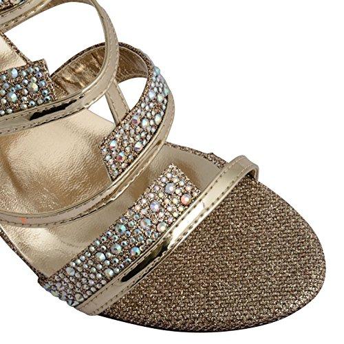 Footwear Sensation - sandalias mujer dorado champán