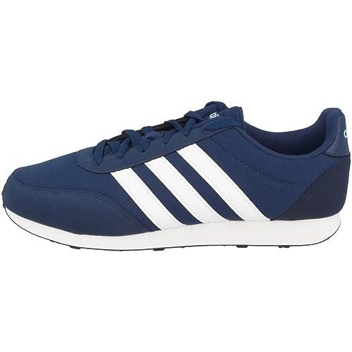 b2fa54e9bc2 Adidas Schuhe V Racer 2.0 W Mystery Blue-Footwear White-Energy Aqua  (BC0113) 42 2 3 Blau  Amazon.es  Zapatos y complementos