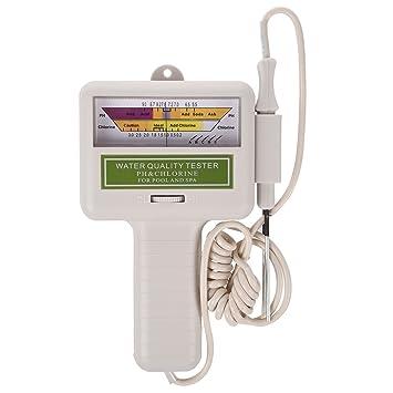 SODIAL(R) Agua calidad PH/CL2 Medidor Ensayador Nivel de Cloro para Piscina