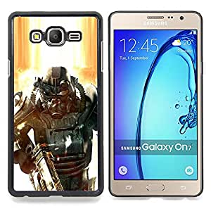 - Fall0out Soldier - - Cubierta del caso de impacto con el patr??n Art Designs FOR Samsung Galaxy On7 G6000 Queen Pattern