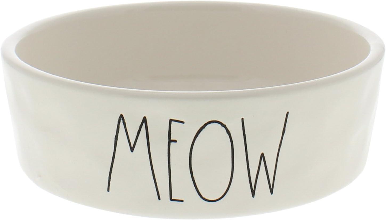 Rae Dunn Magenta Ceramic Pet Bowl Meow Small 4.75 Inch