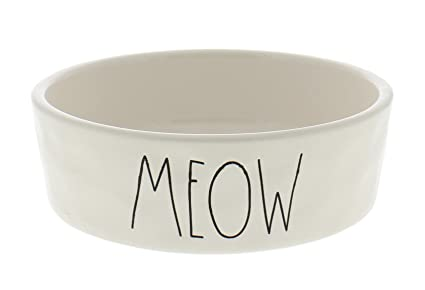 Pet Supplies Lower Price with Rae Dunn By Magenta Pink Meow Cat Kitty Bowl Dish Brand New Ll Large Letters Cat Supplies