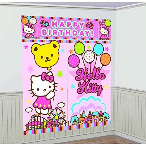 5-Piece Hello Kitty Balloon Dreams Scene Setter Set, Multicolored -