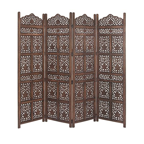 Benzara Wood Divider Screen Bm119478 Benzara Wood Panel Screen, Distressed Brown 80 X 72 X 1 Inches Gray