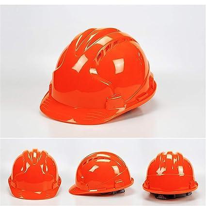 Easy Go Shopping Casco de Seguridad de construcción Resistente del Casco con Ajustable (Color :