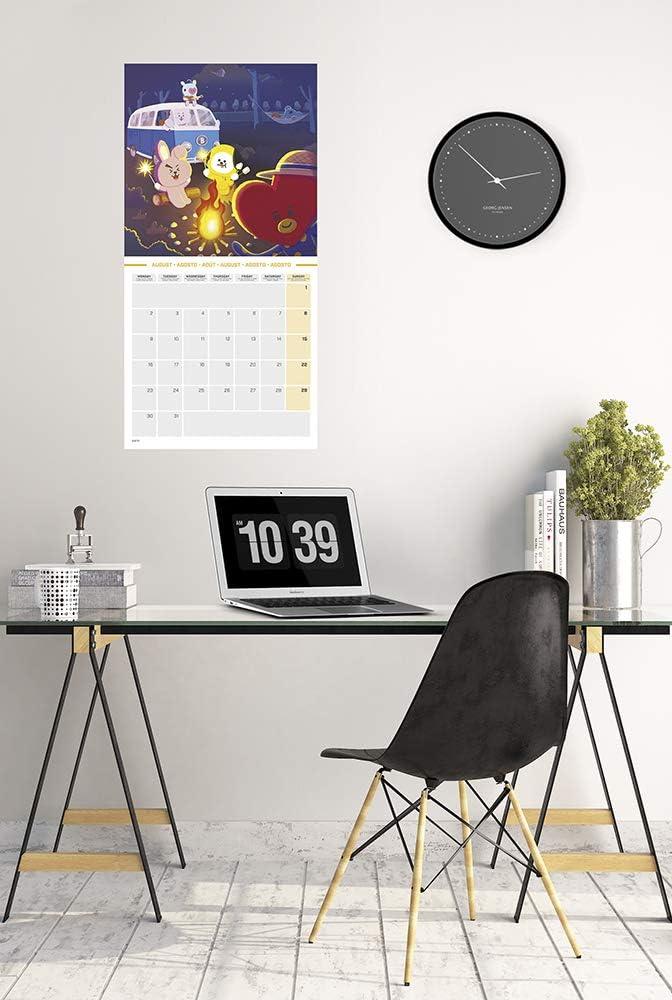 Calendrier Mural 12 Mois 1 Poster Inclus Erik/® Calendrier Mensuel 2021 BT21 30x30 cm