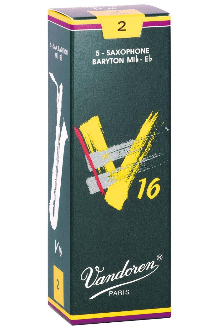 Vandoren SR742 Baritone Sax V16 Strength 2, Box of 5 Reeds