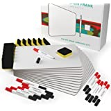 12 Pack Dry Erase Whiteboards Set, Small White Boards Great for Students and Classrooms, 9x12 Inch Mini Lap Board with Red Black Markers and Erasers