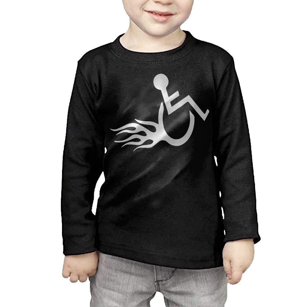 Baby Boys Kids Funny Wheelchair Hot Wheels-1 ComfortSoft Long Sleeve T-Shirt