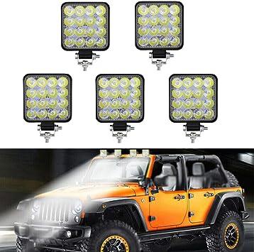 48W Weiß LED Arbeitsscheinwerfer Scheinwerfer Für Auto Jeep SUV//ATV Offroad
