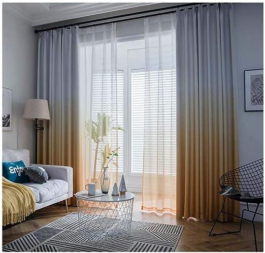 Mallas de lino de lino de algodón grueso nórdico simple moderno pantallas blancas sala de estar cortinas 2 * 2.6 M,lightyellow,2 * 2.6M: Amazon.es: Hogar