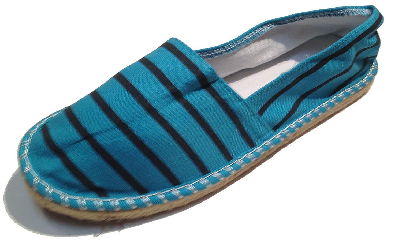 Striped Espadrilles - Spanish Alpargatas - Slip On - Deck Shoes - Canvas - Assorted Colors
