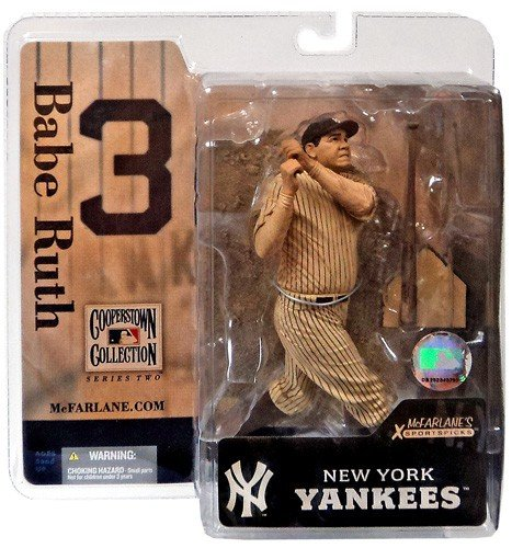 Mcfarlane Mlb 3 Figure - McFarlane MLB Cooperstown Series 2 Babe Ruth #3 in New York Yankees Sepia (Newspaper Print) Chase Variant Six Inch