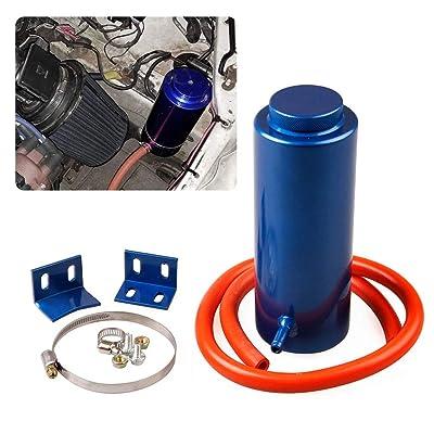 RYANSTAR Radiator Coolant Tank 800ml Universal Coolant Expansion Tank Cooling Catch Bottle Overflow Reservoir Aluminum Billet Blue: Automotive