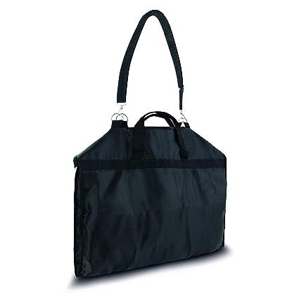 Bolso de traje / bolsa de vestir negro 108 x 57 cm - Funda impermeable de la capa Transpirable plegable - equipaje de mano - Correa de hombro y asas ...