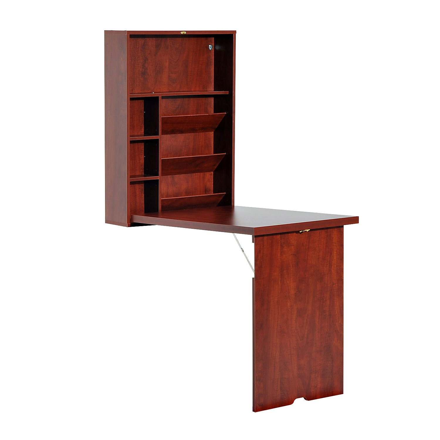 HomCom 836-026 Fold-Out Convertible Desk Wall Mounted Table Cabinet Workstation Aosom Canada