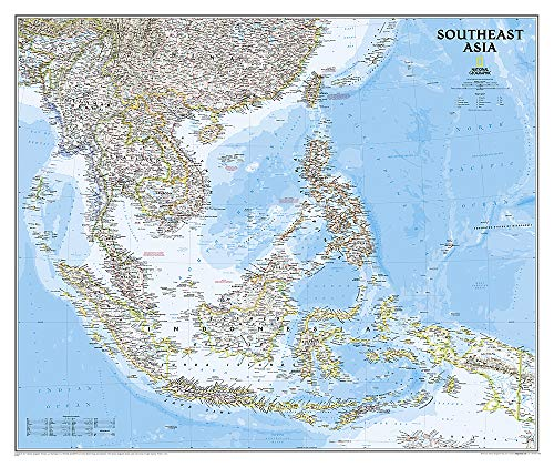 - National Geographic: Southeast Asia Classic Wall Map - Laminated (38 x 32 inches) (National Geographic Reference Map)