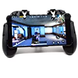 Mobile Game Controller for PUBG Mobile Phone Aim Triggers Fire Buttons L1R1 Shooter Sensitive Joystick Controller for iPhone iOS Android, Portable Controller Gamepad with Phone Stand