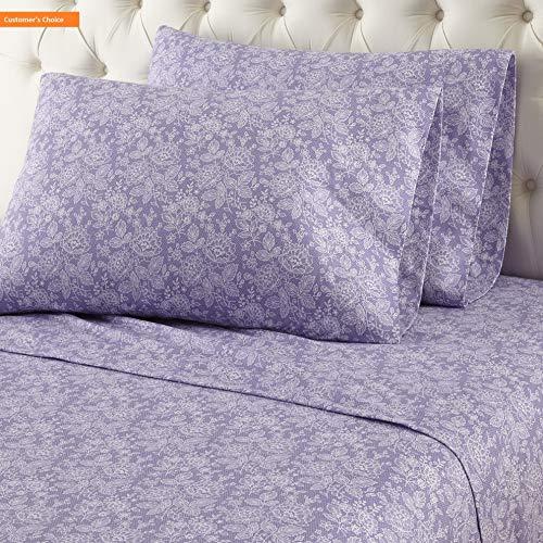 (Mikash New Soft Sheet Set, Twin, Romance Violet   Style 84599978)