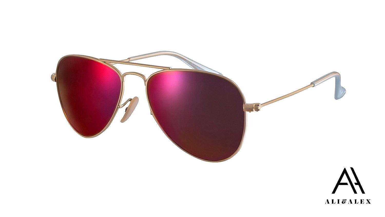 Ali/&Alex Classic Metal Aviator 100/% UV Polarized Unisex Designer Sunglasses for Kids