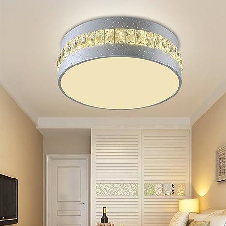 LED fácil lámpara de techo modern Creatividad Round grandes ...