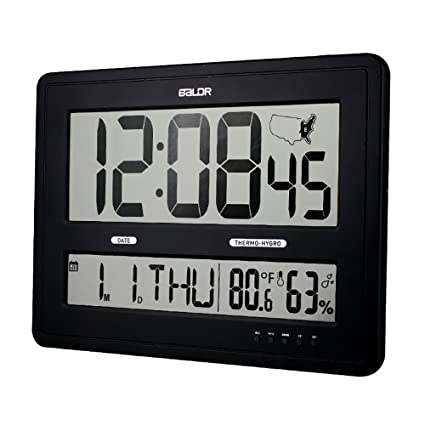Amazoncom BALDR Large Digital Wall Clock With Big Time Display
