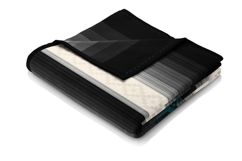 Biederlack Orion Decke Überwurf aus Baumwolle 150 x 200 cm, Mehrfarbig, Baumwollmischung, Navajo Blau, 220 x 240