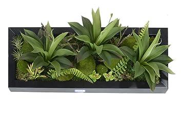 Support De Decoration Mural Fleurs Et Plantes Artificielles En
