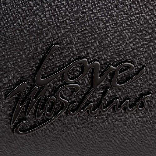 Moschino Borsa A Mano Nero Logo Nero JC4050PP15LE0