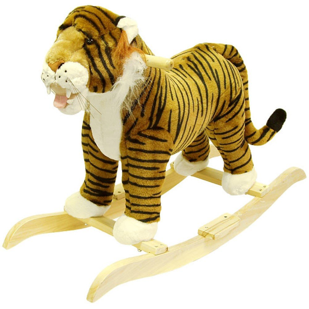 Tiger plush Rocking Animal , Hand Crafted with A木製Core   B01EXHJEKM