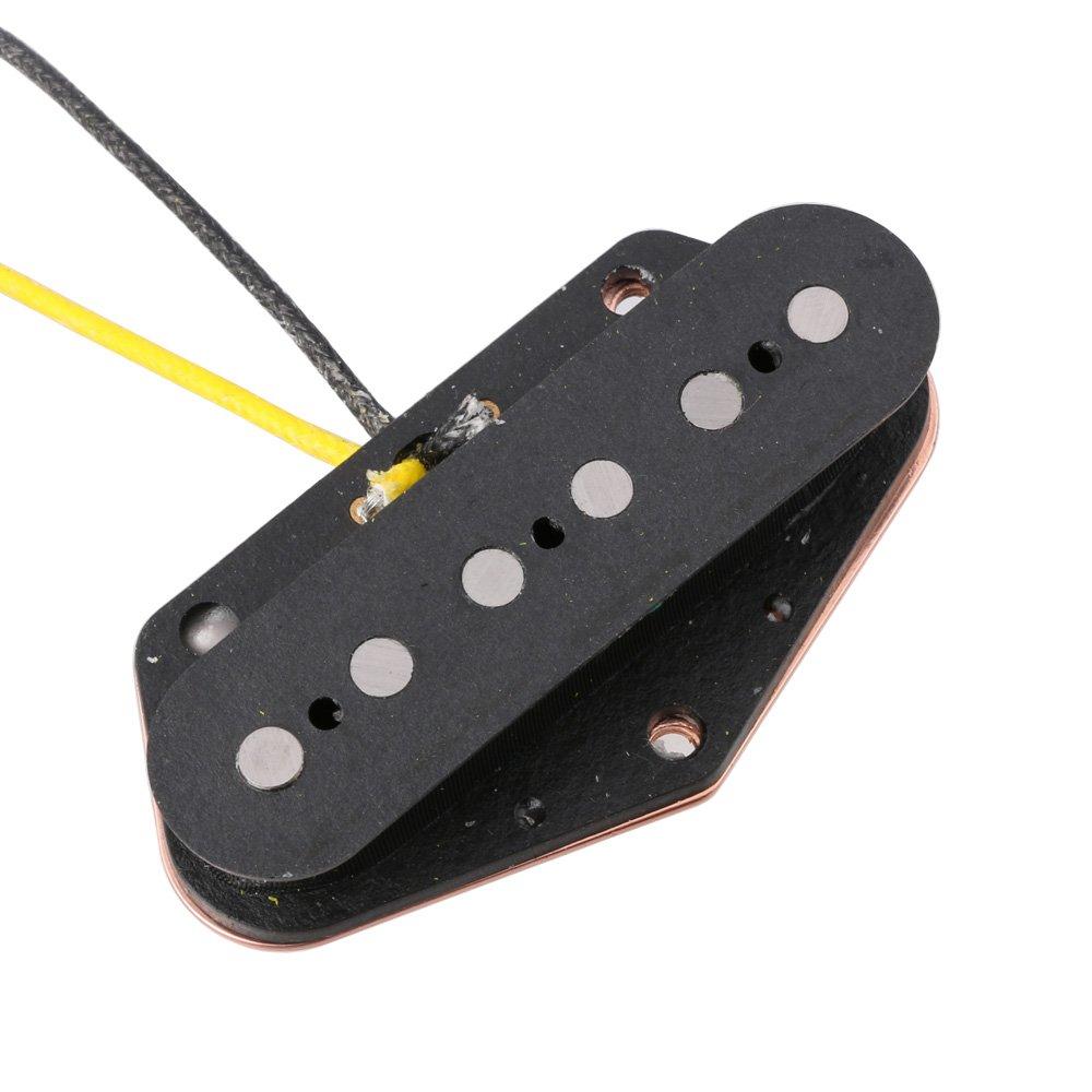 Funda para pastilla de guitarra dos ranuras de metal para guitarra Humbucker negro accesorios para guitarras el/éctricas