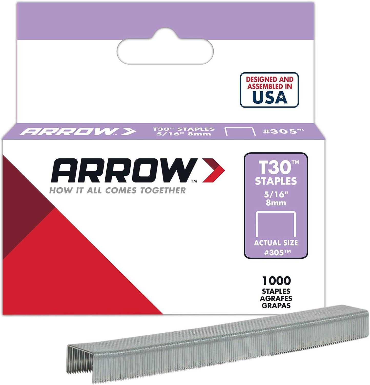 8 mm 1000/St/ück f/ür Tacker T30 Arrow 031007 305 Tackernadeln