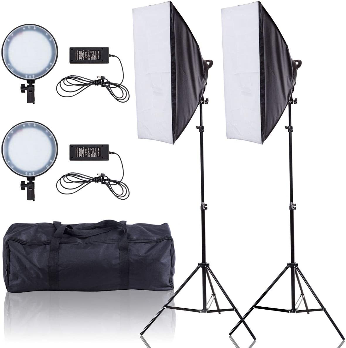 2 x 450W Adjustable Bright LED Softbox with 126 LED Beads