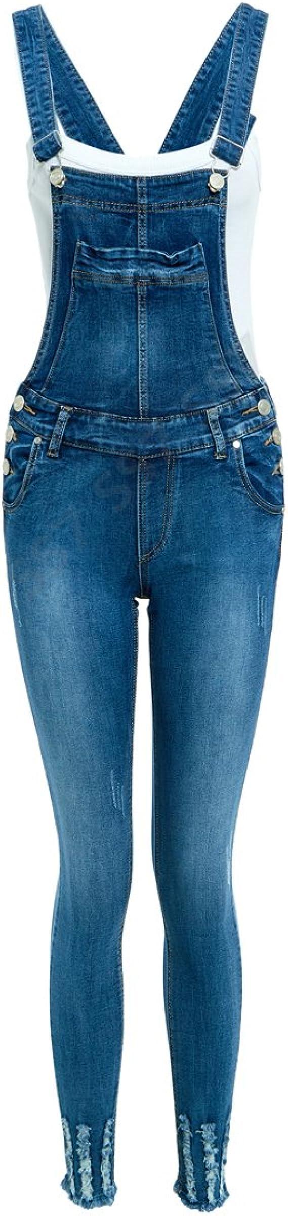 Womens Blue Ripped Skinny Jeans Ladies Slim Fit Denim Size 6 8 10 12 14 16 18 20