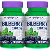 Bilberry Extract 1200 mg 2 Bottles x 100 Capsules