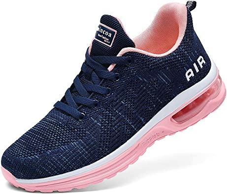 Women/'s Casual Gym Breathable Trainers Sport Comfy Lace Up Sneaker Ladies Shoes
