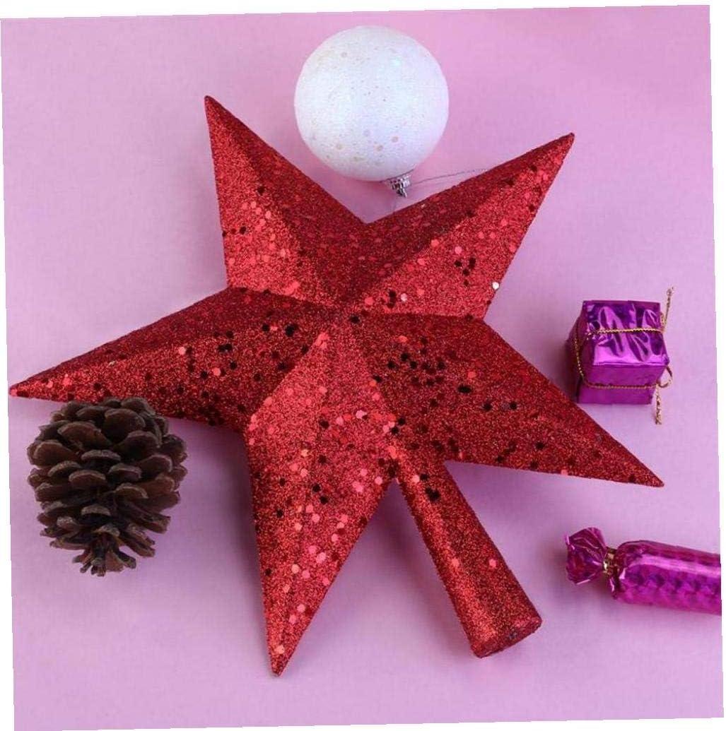 Case/&Cover 4.5 Pulgadas Tesoros Decorativos para Hogar Navidad Brillado Mini Estrella del /Árbol De Navidad Topper