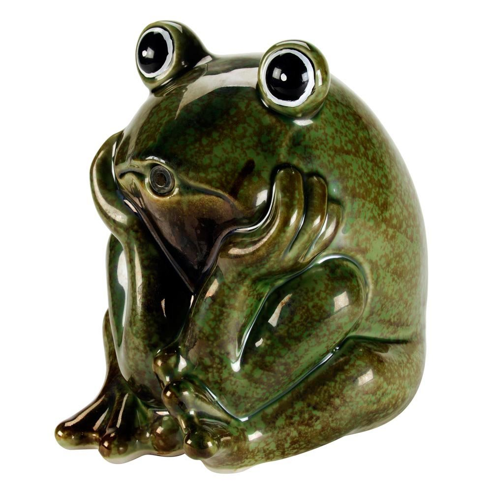 AQUANIQUE Ceramic Frog Spitter by AQUANIQUE