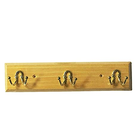 High alloy hook Perchero de Madera para Pared con 3 Ganchos ...