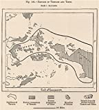 Ternate and Tidore sultanates/empires. Indonesia. East Indies - 1885 - old map - antique map - vintage map - printed maps of Indonesia