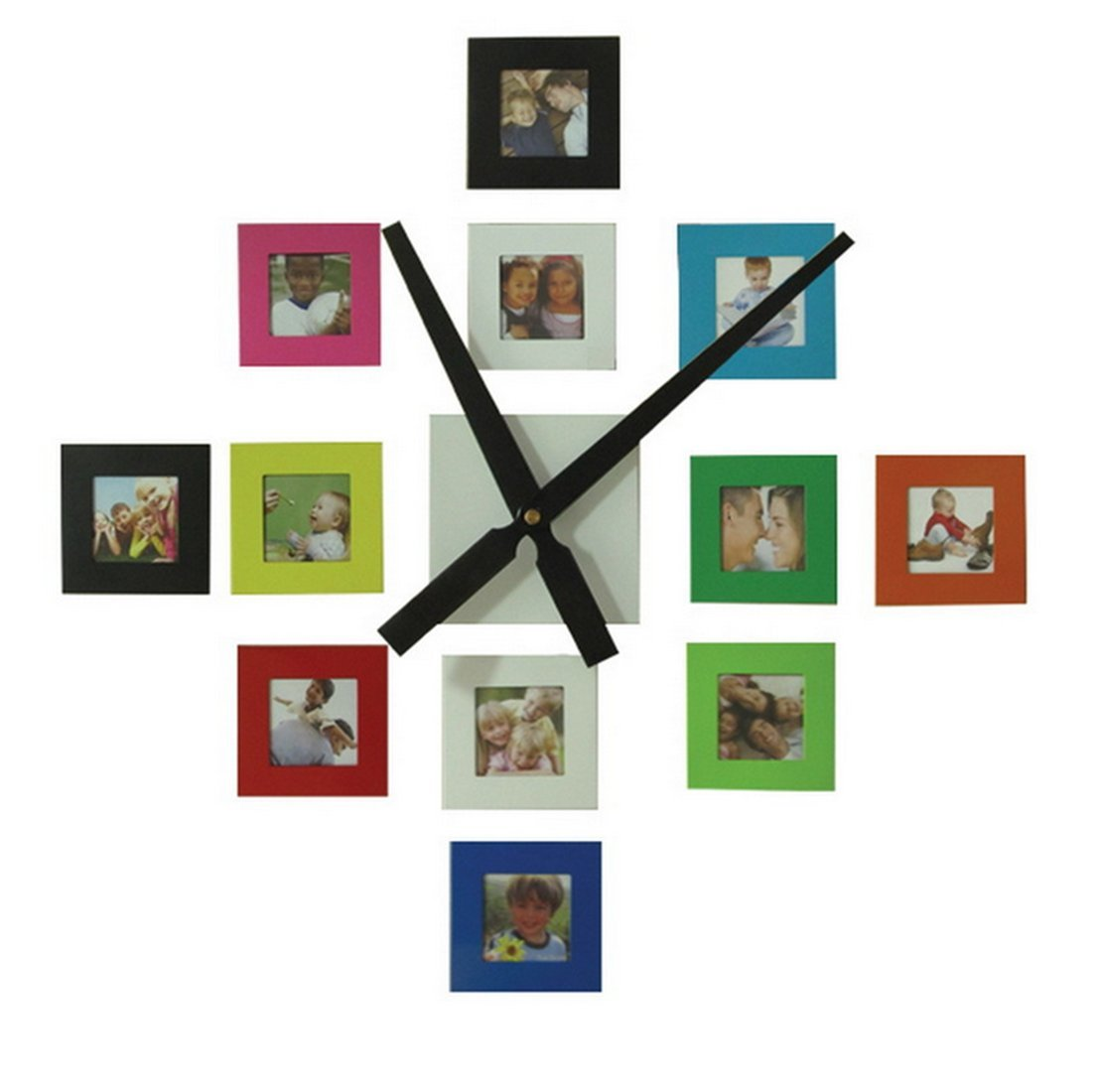 Amazon sentiment photo mute diy large wall clock 3d sticker amazon sentiment photo mute diy large wall clock 3d sticker home office decor giftdecal and picture frames kit time spent with family is worth every amipublicfo Gallery