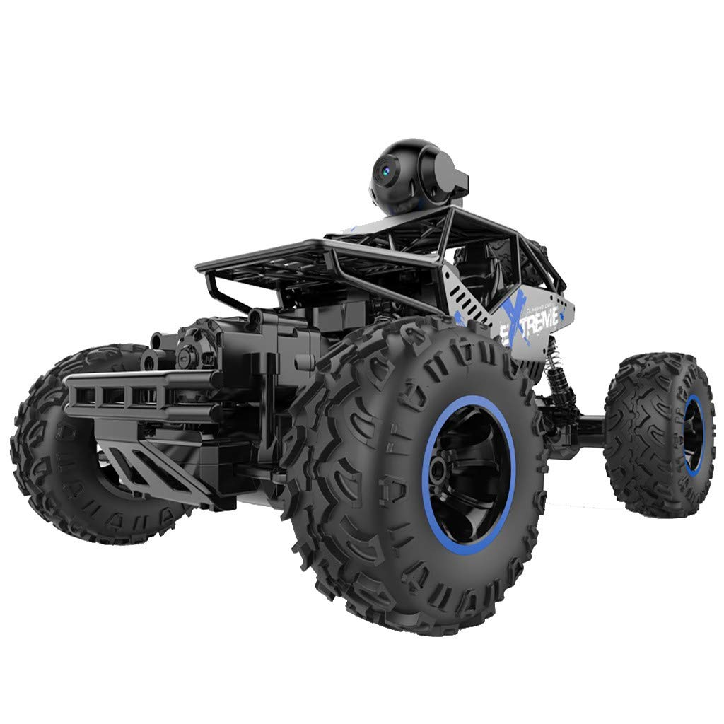 1/16 RC Rock Crawler with WiFi Camera 2.4Ghz 4WD Off Road RC Racing Car High Speed Remote Control Rock Crawlers for Adults Buggy Toy Cars