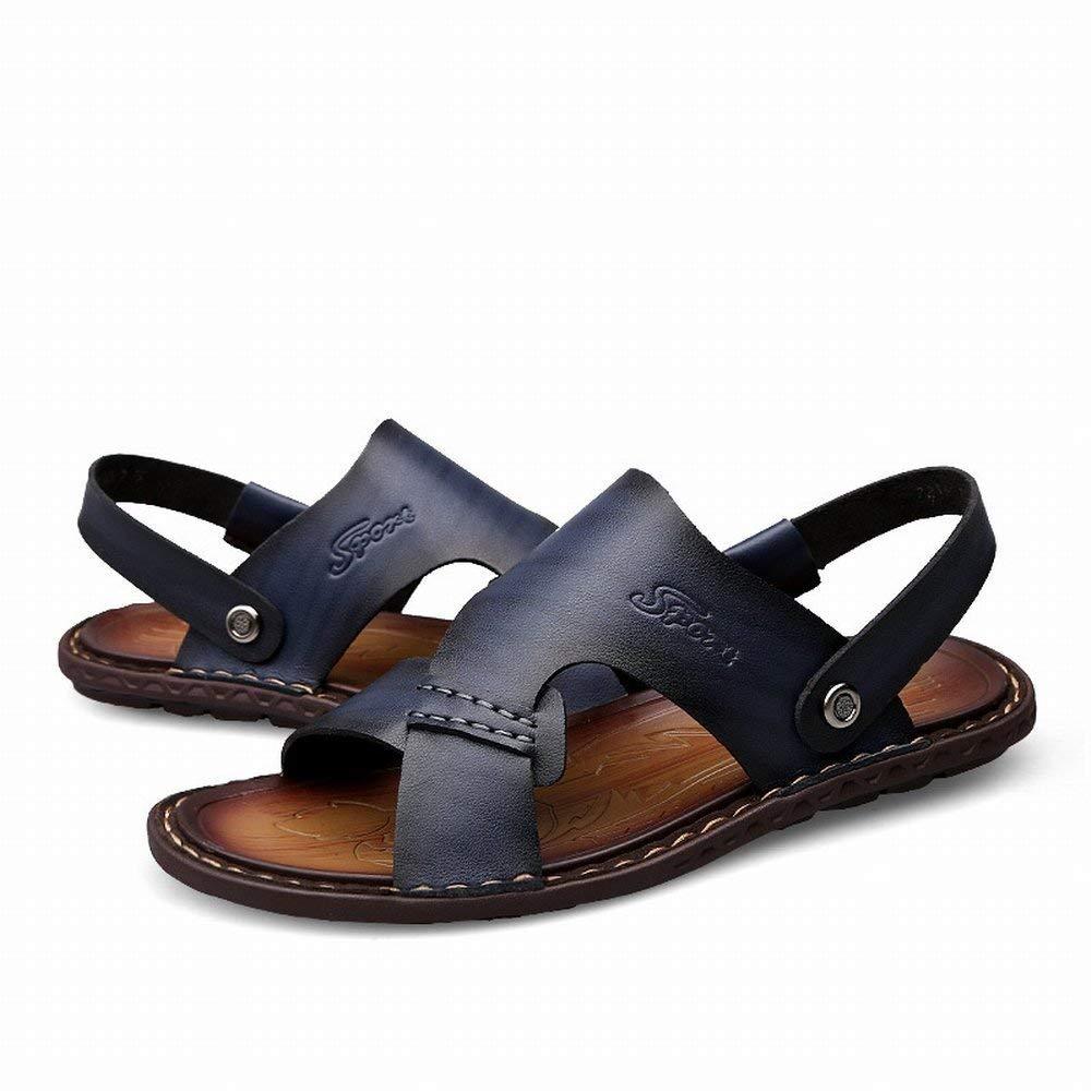 Fuxitoggo Klassische Allgleiches Sandaletten Bequeme Mikrofaserleder-Männerpantoffel Rutschfeste Tragen Sandelholze Sandelholze Sandelholze (Farbe   Hellbraun, Größe   44)  72abfd