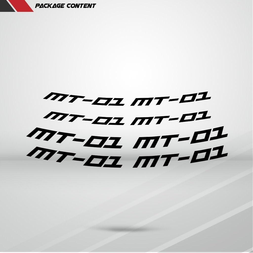 Stickman Vinyls Glänzend Schwarz Motorrad Inner Rim Tape Decal Aufkleber Kompatibel Mit Yamaha Mt01 Auto