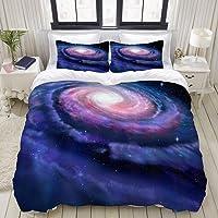 Yaoni Funda nórdica, Galaxia Espiral Rosa Azul Rosa Galaxia Ilustración del Universo mágico Cosmos de la Vía Láctea…