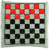 Lulu Home Giant Checkers, 3-in-1 Jumbo Checkers Rug Checkers Board Game with Super Tic Tac Toe Set