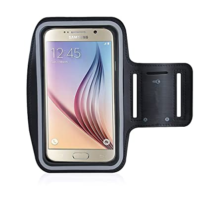 Rejected all traditions For S6/S6 Edge/S6 Active Armband,Running Sweat Proof Key Holder(Black) 85%OFF