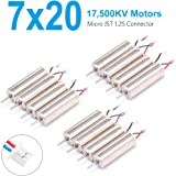 BETAFPV 3 Set 7x20mm 17500KV Brushed Motors with JST-1.25 Connector for Micro Tiny Whoop BETA75 Tiny7 CX-95W etc