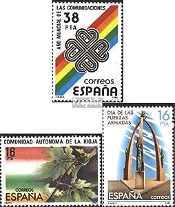 Prophila Collection España Michel.-No..: 2591,2592,2593 (Completa.edición.) 1983 comunicación, Rioja, ejército (Sellos para los coleccionistas) Militar: Amazon.es: Juguetes y juegos