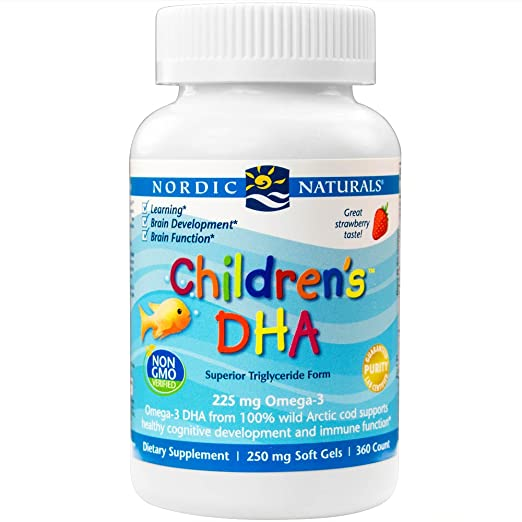 Nordic Naturals - Children's DHA, Healthy Cognitive Development and Immune Function, 360 Soft Gels (FFP)